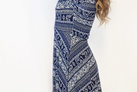 Blog sneak peak! Not only is this dress super comfortable, it is also incredibly flattering! #elephantprint #ootd